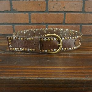 ANTHROPOLOGIE Linea Pelle Studded Belt Size M